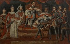 Carlos V y familia