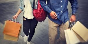 53072761 - shopping couple capitalism enjoying romance spending concept