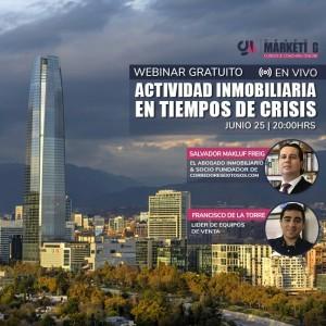 Actividad inmobiliaria en tiempos de crisis