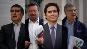 Mario Desbordes, Sebastián Sichel, Ignaio Biones y Joaquín Lavín, precandidatos de la centroderecha